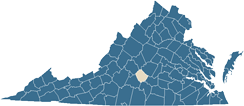 Map of Appomattox County